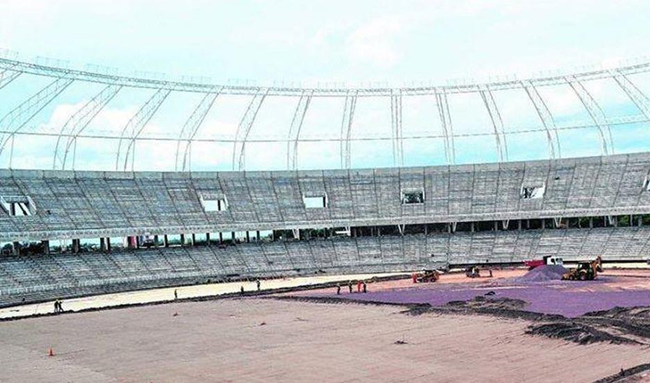 IMPONENTE. Avanzan las obras del Estadio Único que será el más moderno del país.