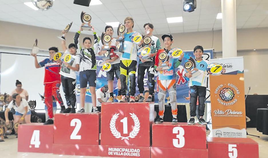 DESTACADOS. Los hermanos Lisandro y Santino Díaz terminaron entre los mejores 8 del país.